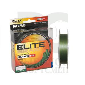 "Шнур плетеный ""Salmo"" Elite braid Green 91м 0,13мм"