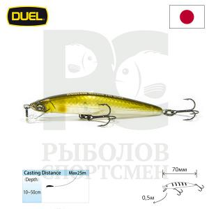 "Воблер ""Duel"" Hardcore Minnow Bass  70mm F1039-GSAY"