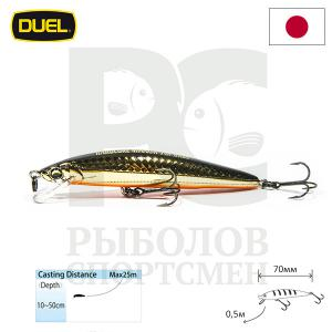 "Воблер ""Duel"" Hardcore Minnow Bass  70mm F1039-HGBL"