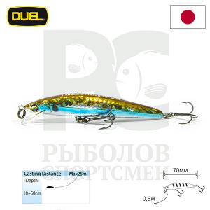 "Воблер ""Duel"" Hardcore Minnow Bass  70mm F1039-HSH"