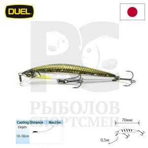 "Воблер ""Duel"" Hardcore Minnow Bass  70mm F1039-HSM"