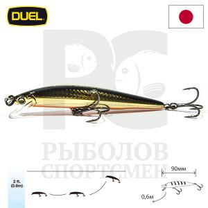 "Воблер ""Duel"" Hardcore Minnow Bass  90mm F1040-HGBL"