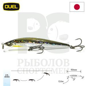 "Воблер ""Duel"" Hardcore Minnow Bass  90mm F1040-HSM"