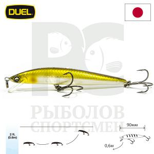 "Воблер ""Duel"" Hardcore Minnow Bass  90mm F1040-GSAY"